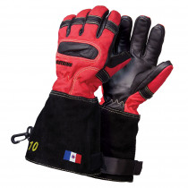 Gants pompiers Attaque Feux Cuir -Rouge ATTACK6PEOM-BSC